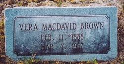 Vera <I>MacDavid</I> Brown