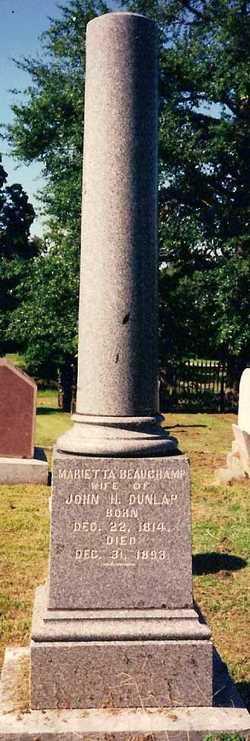 Marietta <I>Beauchamp</I> Dunlap
