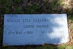 """Margarett Etta """"Maggie"""" <I>Galloway</I> Adams"""