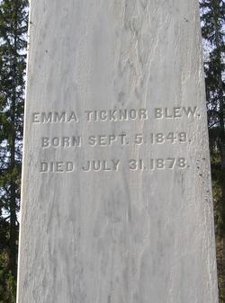 Emma <I>Ticknor</I> Blew