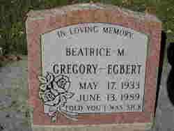 Beatrice M. Gregory - Egbert