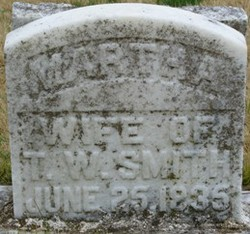 Martha Elizabeth <I>Langston</I> Smith