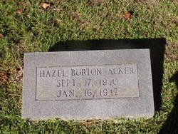 Hazel <I>Burton</I> Acker