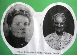 "Sarah Elizabeth ""Aunt Sarah"" <I>Redd</I> Prince Davis"