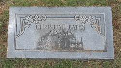 Christina Letha <I>Bates</I> Adams