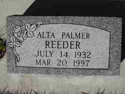 Alta Palmer Reeder