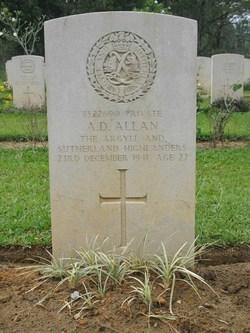 Pvt Andrew Davidson Allan