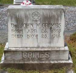 Dr John Walter Grimes