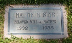"Martha M. ""Mattie"" <I>Womack</I> Slye"