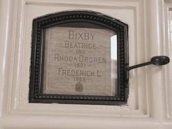 Rhoda Adele <I>Orgren</I> Bixby