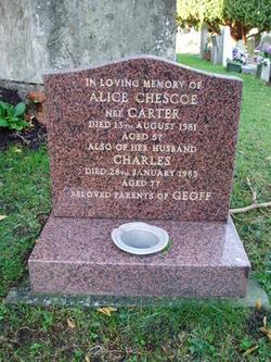 Alice <I>Carter</I> Chescoe