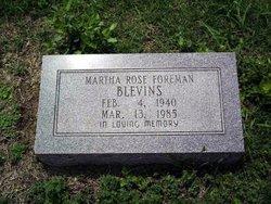 Martha Rose <I>Foreman</I> Blevins