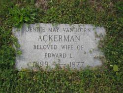 Jennie May <I>Van Horn</I> Ackerman