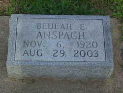 Beulah Evaline <I>Barrall</I> Anspach