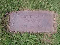 Gertrude D <I>Anderson</I> Holstine