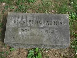 Ella <I>Plum</I> Albus