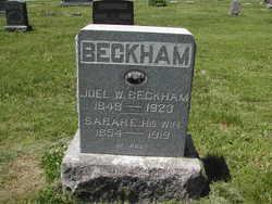 Sarah Emeline <I>Martin</I> Beckham