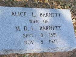 Alice L <I>Beck</I> Barnett