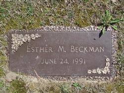 Esther Maude <I>Wolf</I> Beckman