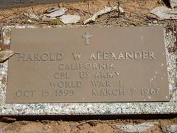 Harold Wilson Alexander
