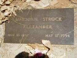 Marjorie <I>Strock</I> Alexander