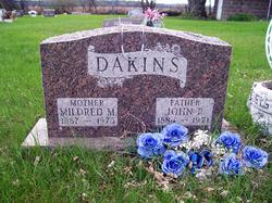 "Mildred Maria ""Millie"" <I>Fletcher</I> Dakins"