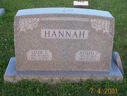 """Elizabeth Ella """"Lizzie"""" <I>Bumgarner</I> Hannah"""
