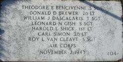 SSGT Roy L Van Cleave