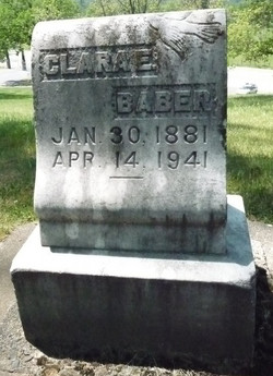 Clara E. <I>Halcumb</I> Baber