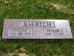 """Christian John """"Chrissie"""" Baertch"""