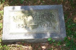 Mary V Yerkes <I>McFarlin</I> Hoar