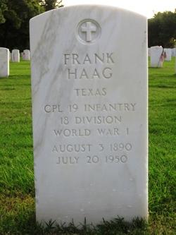 "Franklin ""Frank"" Haag"