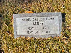 Sadie Carr <I>Creech</I> Berry