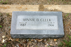 Minnie D. <I>Sharp</I> Cleek