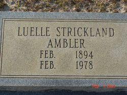 Luelle <I>Strickland</I> Ambler