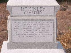 Julia Ann <I>Lindsay</I> McKinley