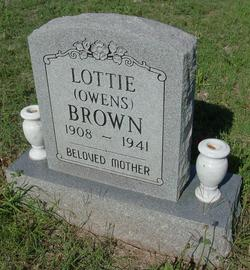 Lottie <I>Owens</I> Brown