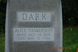 Alice A. <I>Tankersley</I> Dark