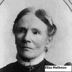 Elizabeth (Eliza) <I>Mathews</I> Roberts