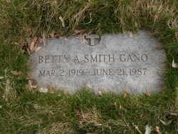 Betty Ann <I>Adams</I> Gano