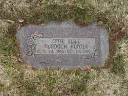 Effie Lisle <I>Murdoch</I> Hunter
