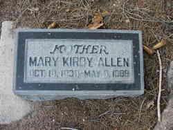 Mary <I>Kirby</I> Allen