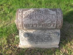 """Ingrid """"Ingie"""" <I>Swenson</I> Anderson"""