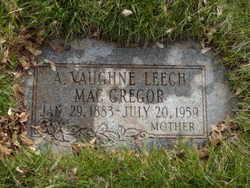 Anne Vaughne <I>Leech</I> MacGregor