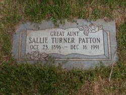 "Sally ""Sallie"" <I>Turner</I> Patton"