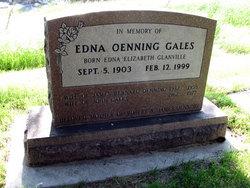 Edna Elizabeth <I>Glanville Oenning</I> Gales