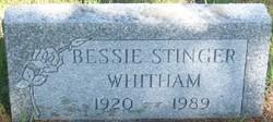 Bessie Margaret <I>Stinger</I> Whitham