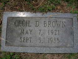 Cecil D Brown