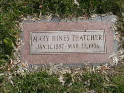 Mary Hines Thatcher