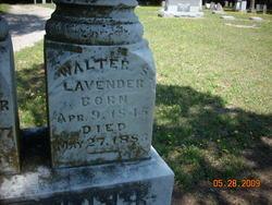 Pvt Walter Scott Lavender